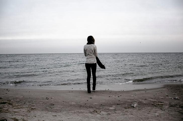 ทะเล, สาว, ดวงอาทิตย์, ชายหาด, คน, ไลฟ์สไตล์, โอเชี่ยน