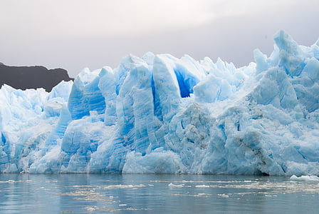 glacier, patagonia, ice, nature, torres del paine, chile, iceberg - Ice Formation