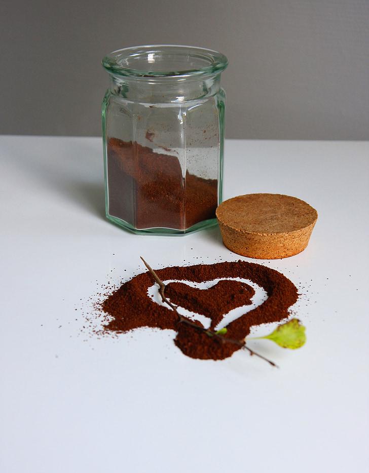 cafè, cor, aromàtics, aroma de, Art, dibuix