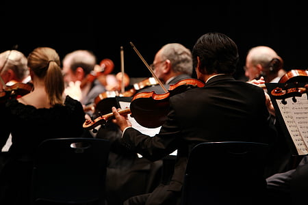 orchestra, symphony, stage, performing, performances, concerts, music