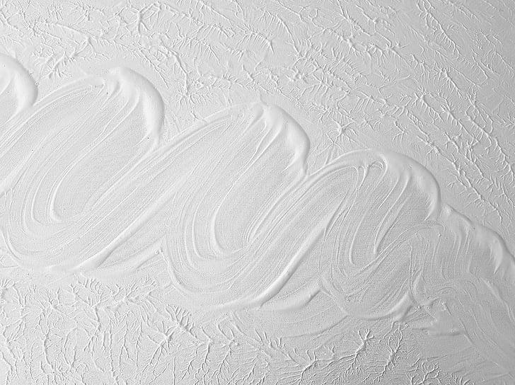 textura, acrílic, pintura, blanc, patró, color blanc, resum
