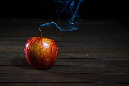 κερί, κερί, Apple, καπνός, φρούτα, ζουμερά, τροφίμων