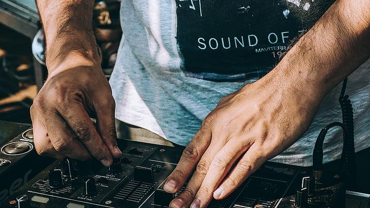 dj, 엘, 믹서, 음악, 사운드, 파티, 댄스