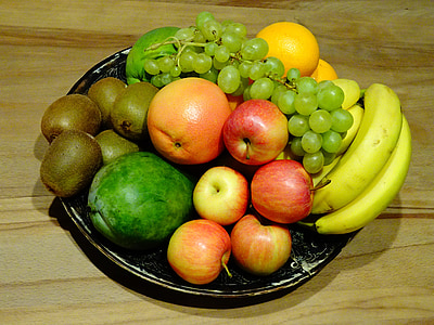 frukt, Orange, frukter, mat, bananer, Kiwi, vitaminer