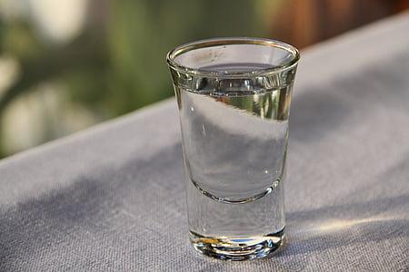 licor, vidre, beguda, got d'aigua, frescor