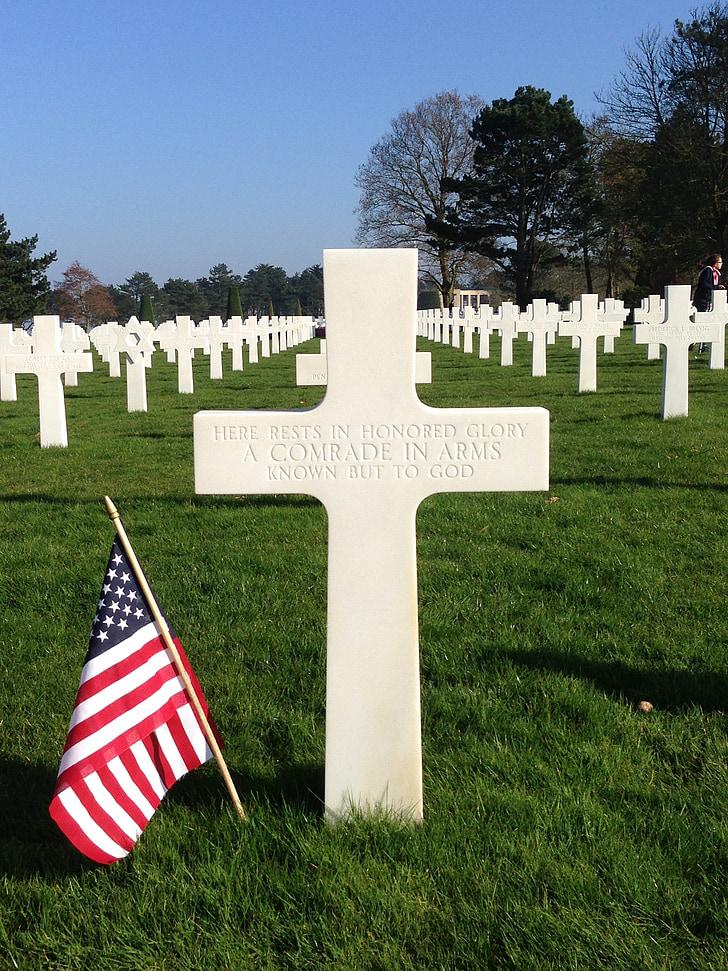 begraafplaats, Normandië, landing, juni 44, Omaha beach