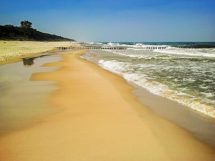 Chałupy, Sea, vee, lained, Läänemere, loodus, sinine
