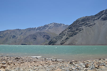 landscape, mountain, mountain river, lake, mountain landscape, mendoza, nature