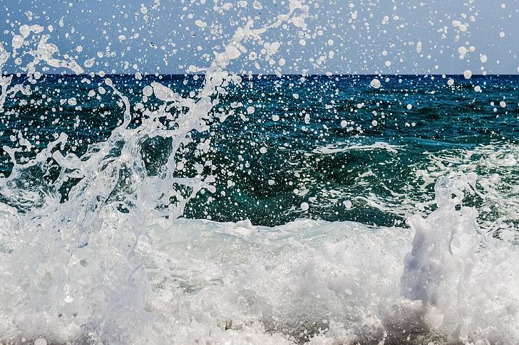 Splash, spray, hab, csepp, buborékok, víz, folyadék
