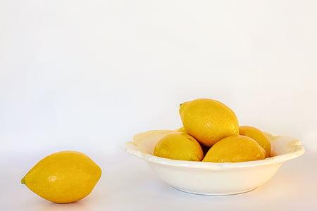 柠檬, 复制空间, 食品, 健康, 新鲜, 副本, 空间