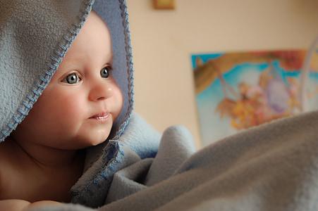 enfant, bébé, amour, bébé nouveau-né, carpe à grosse tête, mignon, petit