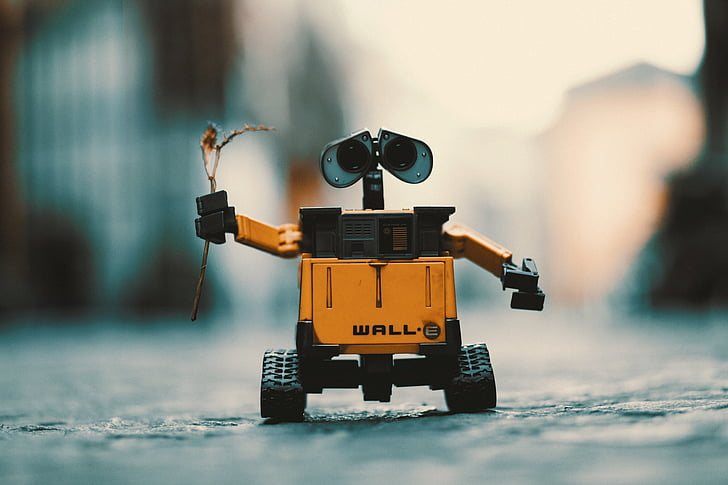 wall-e, robot, toy, cute, wallpaper, romantic, android