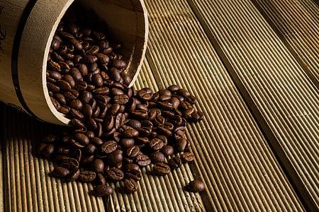 grains de café, café, la boisson, caféine, grillé, mouture, fève
