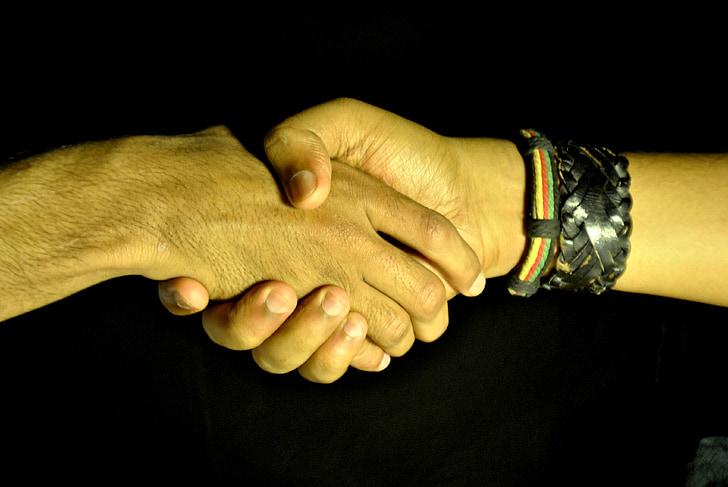 encaixada de mans, les mans tremoloses, mans, negoci, acord, quantitat, Associació