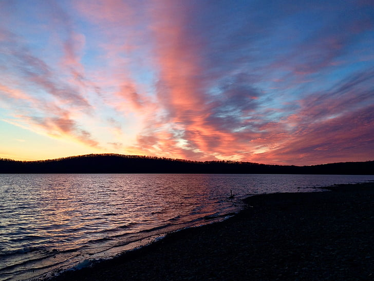 Sunrise, Beach, Beach sunrise, vesi, maisema, Ulkouima, rauhallinen