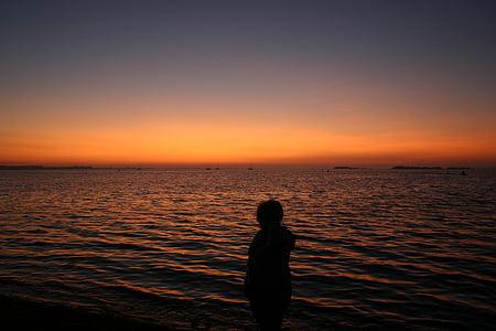 바다, 일몰, 일몰 바다, abendstimmung