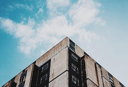 hoone, madala-nurk shot, taevas, arhitektuur, ehitatud struktuur, hoone välisilme, kaasaegne