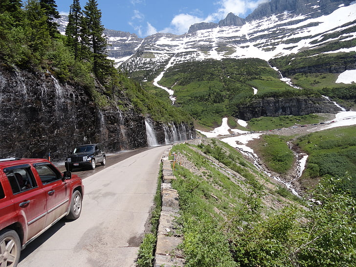 Glacera del parc nacional, Montana, paisatge, paisatge, Nacional, vista a la muntanya, l'hivern