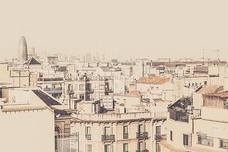 photo, gray, concrete, buildings, building, city, architecture