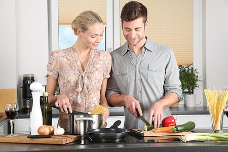 dona, cuina, home, vida quotidiana, Ros, morena, Junta