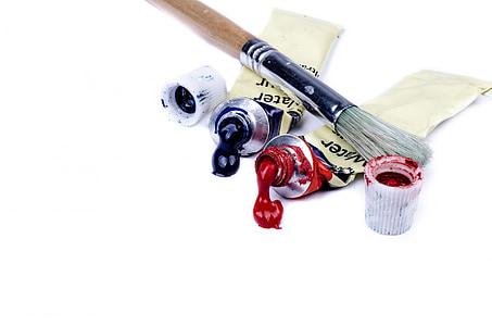 lukisan, sikat, warna, warna, seni, latar belakang, inspirasi