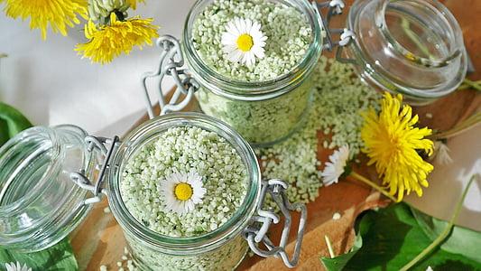 tuz, ayının sarımsak, sarımsak tuz, tuz taneleri, pişirme malzemeleri, tat, tahıl