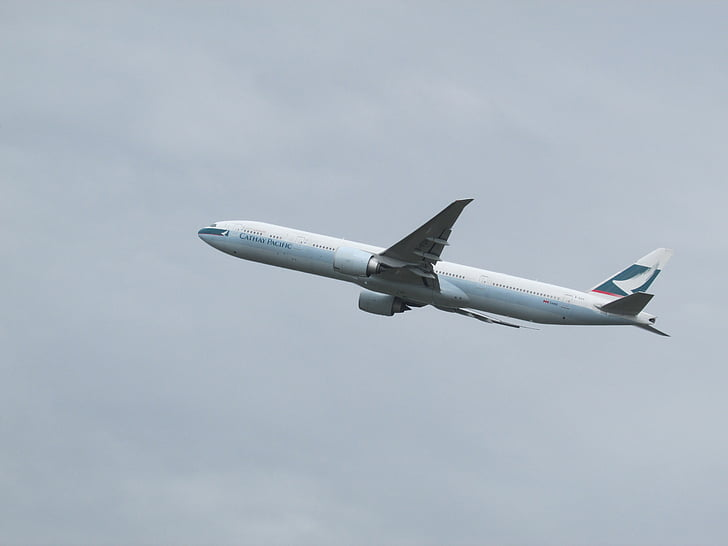 avion spotting, avion, Heathrow, Cathay pacific, décoller, allez pilote