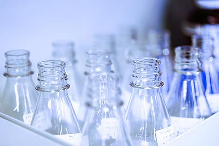 bekerglas, glas slijtage, chemische stof, Lab, glas, wetenschap, experiment