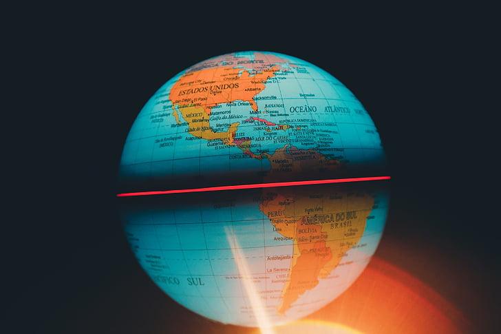 Free Slika Globus Globalne Karta Krug Sfera Sarene Zamagliti