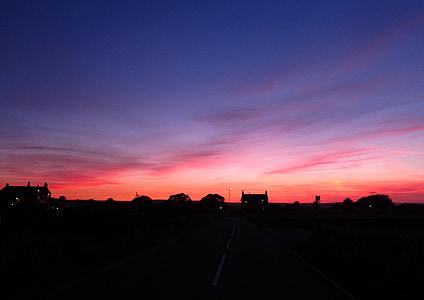 Sky, siluett, solnedgång, solnedgång sky