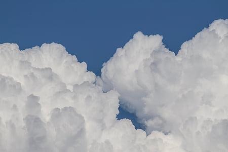 núvols, forma núvols, muntanya de núvol, núvols, núvol de munt de, Parcialment ennuvolat, cel
