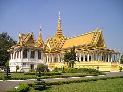 Cambodja, Palau Reial, Palau, Temple, rei, Hof, Sud-est