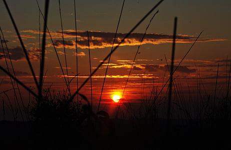 Захід сонця, хмари, вечір, вечірнє небо, післясвічення, abendstimmung, НД