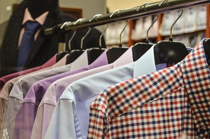 samarretes, penjadors, exposició, botiga, compres, prestatge, comprar
