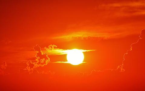 günbatımı, bulutlar, Akşam gökyüzü, gökyüzü, abendstimmung, akşam, Atmosferik