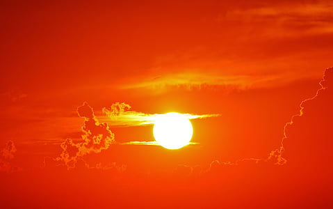 posta de sol, núvols, cel de nit, cel, abendstimmung, nit, atmosfèrica
