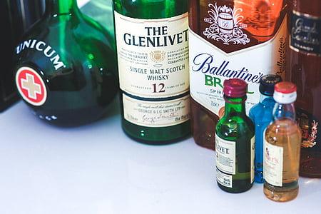bottles, bottle, whiskey, alcohol, drink, drinks, drinking