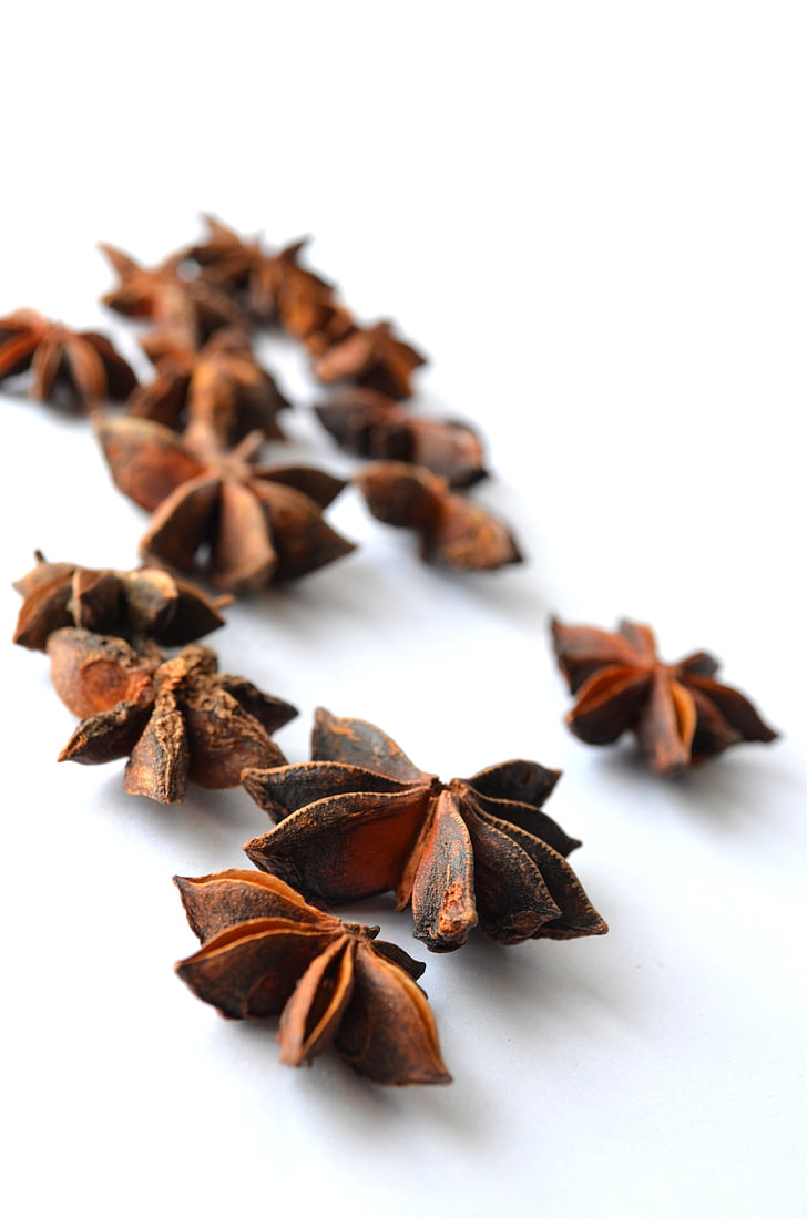 chinese star anise, anise, illicium verum, star anise, brown, flavor, food