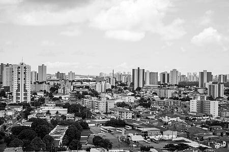 landscape, city, gray, architecture, buildings