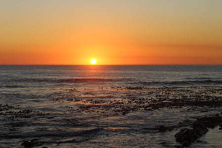 sunset, cape town, cape, africa, beach, sea, ocean