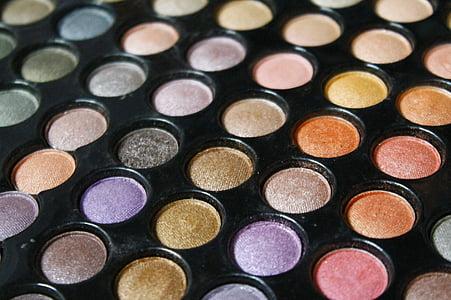 ombra d'ulls, maquillatge, moda, maquillatge, ull, noia, ombra d'ulls