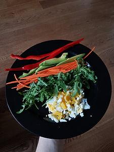 新鮮です, 野菜, 卵, 食品, 健康的です, パプリカ, 成分