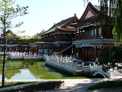 Xina, xinès, edifici, Llac, Àsia, cultura