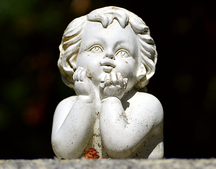 little angel, garden, figure, ornament, garden figurines, decoration, sculpture