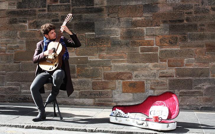 music, guitar, edinburgh, musician, musical Instrument, performer, playing