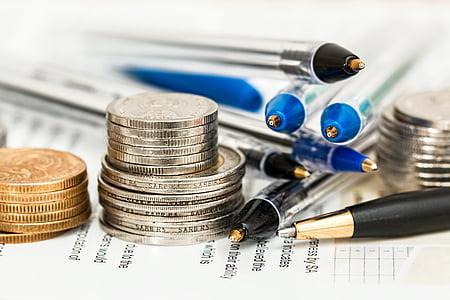 quả bóng, điểm, bút, tiền xu, trắng, giấy, tài liệu