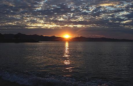 platja, Mar, Alba, l'estiu, belles platges, sol i mar, sol