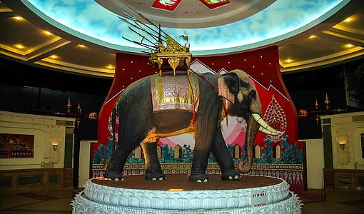 estàtua, elefant, Museu de l'elefant, Tailàndia