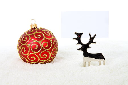 metallo, palla, Bagattella, celebrazione, Natale, decorazione, Vacanze