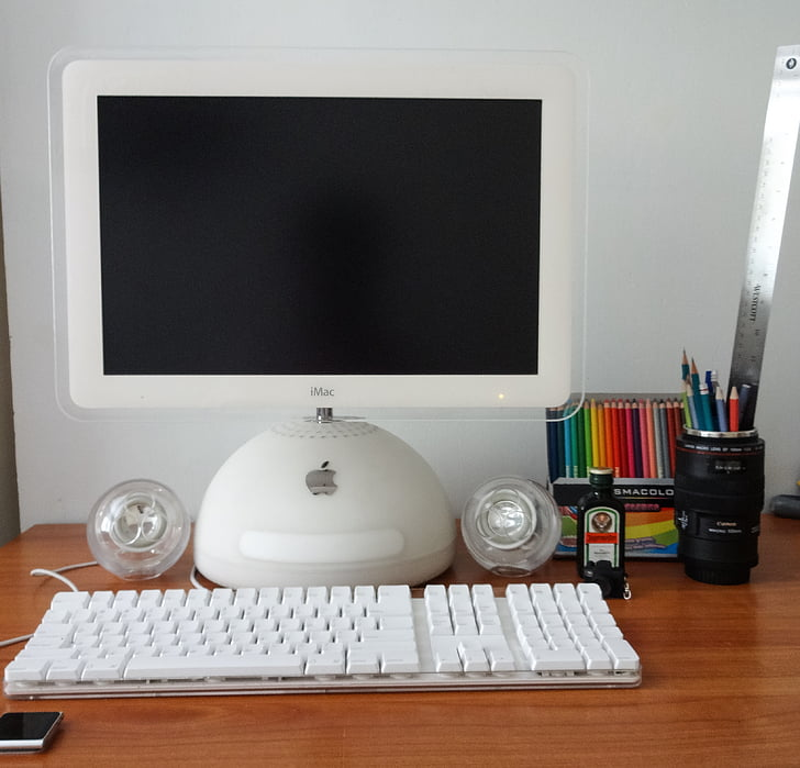 computer, imac, graphic design, pismacolor, g4, monitor, equipment